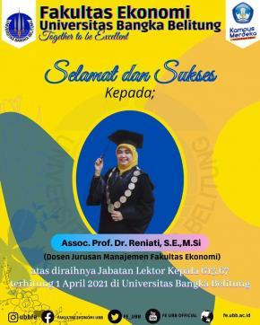Selamat dan Sukses Kepada Dekan Fakultas Ekonomi Universitas Bangka Belitung