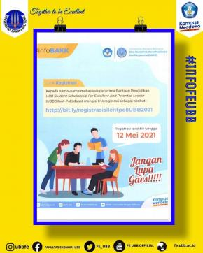 Selamat Kepada Mahasiswa Penerima Bantuan Pendidikan Silent Poll Universitas Bangka Belitung Tahun 2021