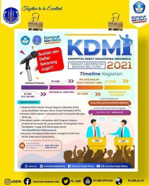 Kompetisi Debat Mahasiswa Indonesia (KDMI) Tahun 2021