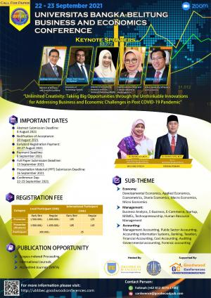 UNIVERSITAS BANGKA BELITUNG BUSINESS AND ECONOMICS CONFERENCE
